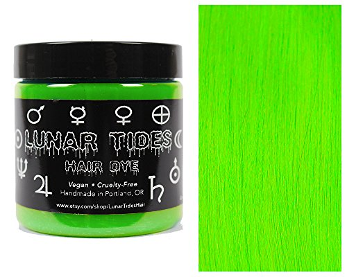 neon green hair dye permanent - 2