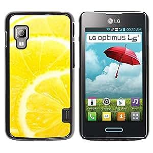 LECELL -- Funda protectora / Cubierta / Piel For LG Optimus L5 II Dual E455 E460 -- Fruit Macro Lemon --