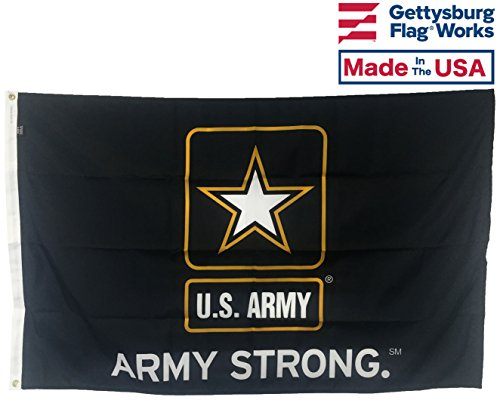 3x5' U.S. Army Strong All-Weather Nylon Outdoor Flag - Made in USA by Gettysburg Flag Works