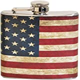 Vintage American Flag 5 oz. Stainless Steel Flask