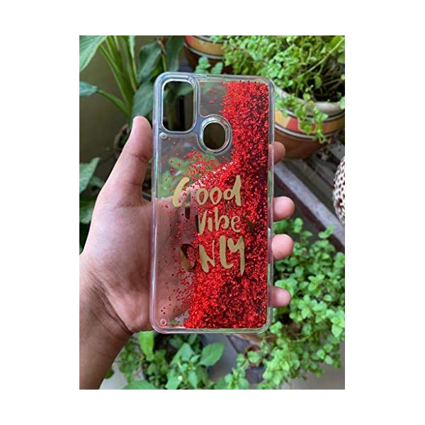 Cat Care Good Vibes Only Designer Quicksand Moving Liquid Floating Waterfall Girls Soft TPU Mobile Back Case Cover for… 2021 July Compatible For Samsung Galaxy M31/Sam F41 Liquid Sand cover, Glow in Dark and Glow at nights. Looks Amazing bright lights. ACCESS CONTROLS: Access to all control and features with Precise cutouts for speakers, camera, charging and Head phone Ports