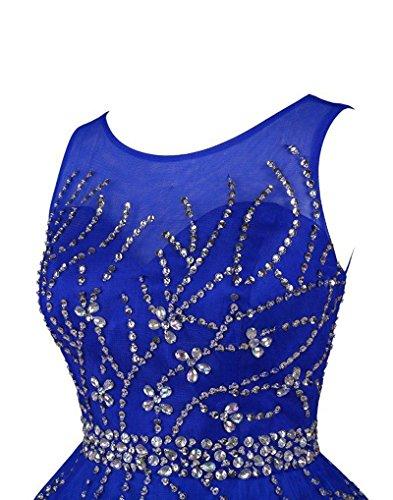 Perline Breve Cristallo Royalblue Tulle Chupeng Vestito Promenade Del Casa A Da Partito Ritorno 61SqRwR5