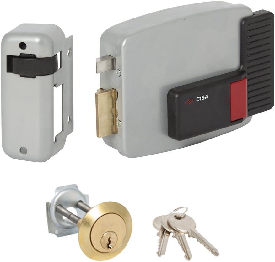 CISA 111610602 11610-60-2 Cerradura Eetríca aplicar Cilindro Desmontado SX, 12 V, Barnizado Gris Aluminio, Entrada 60