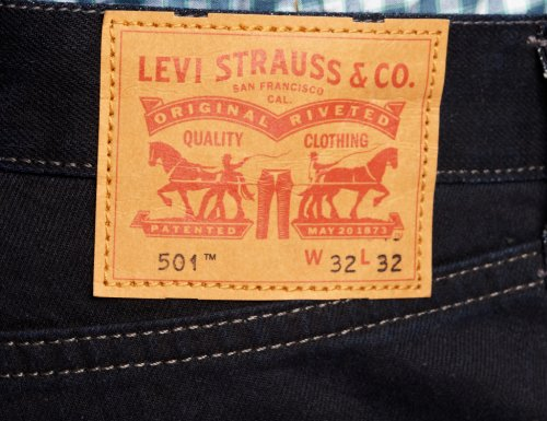 Black 1826 1663 501 Levi's 00501 coated 00501 Original Fit Ii Jeans Levi`s Uomo Nero 1qwPx6U5