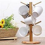 Strong Wood Mug Rack Holder Tree Coffee Cup Storage Stand Kitchen Organization