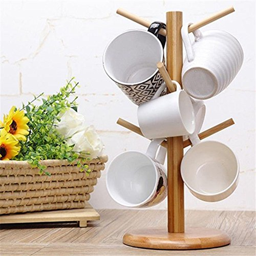 Strong Wood Mug Rack Holder Tree Coffee Cup Storage Stand Kitchen Organization by Agordo (Image #10)