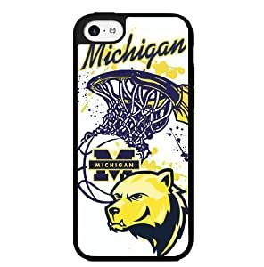 LJF phone case University of Michigan Wolverines Blue and Yellow College Basketball Sports Hard Snap on Phone Case (ipod touch 5)