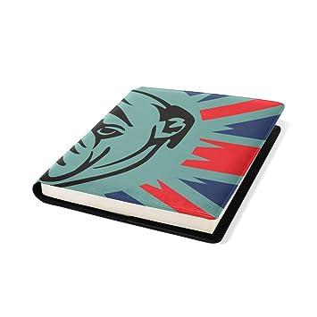 Fundas para libros de piel de 23 x 28 cm para oficina ...