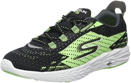 Skechers Mens GOrun 5 Running Shoe,Black/Green,US 10 M
