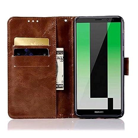 Huawei Mate 10 Pro caso, cartera de piel con tapa para ...