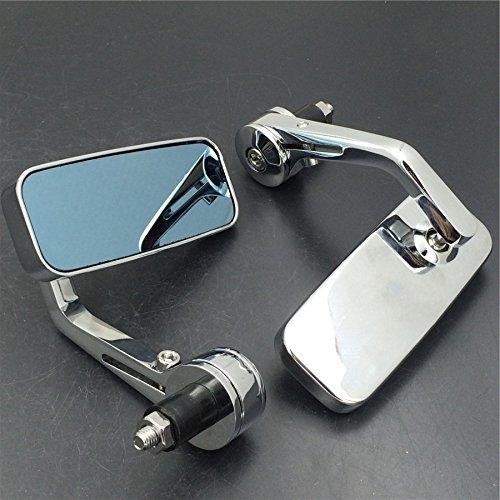 Mirrors for any 7/8' or 1' diameter handlefit Honda/Suzuki/Kawasaki/Yamaha/Harley HK MOTO