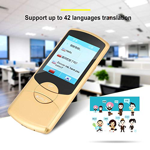 Intelligent Voice Translator, Portable Multi-Language Simultaneous Translator Device 42 Languages Two-Way Interpretation in Real Time Supports WIFI for Travel Learning Shopping, Business(Yellow) by ASHATA (Image #1)