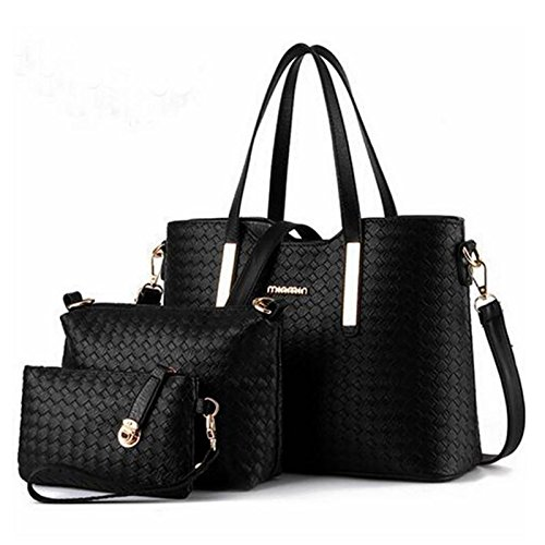 Thegood88 Women Handbag Messenger PU Leather Tote Bag Shoulder Purse 3pcs Casual Bags Set TG0300