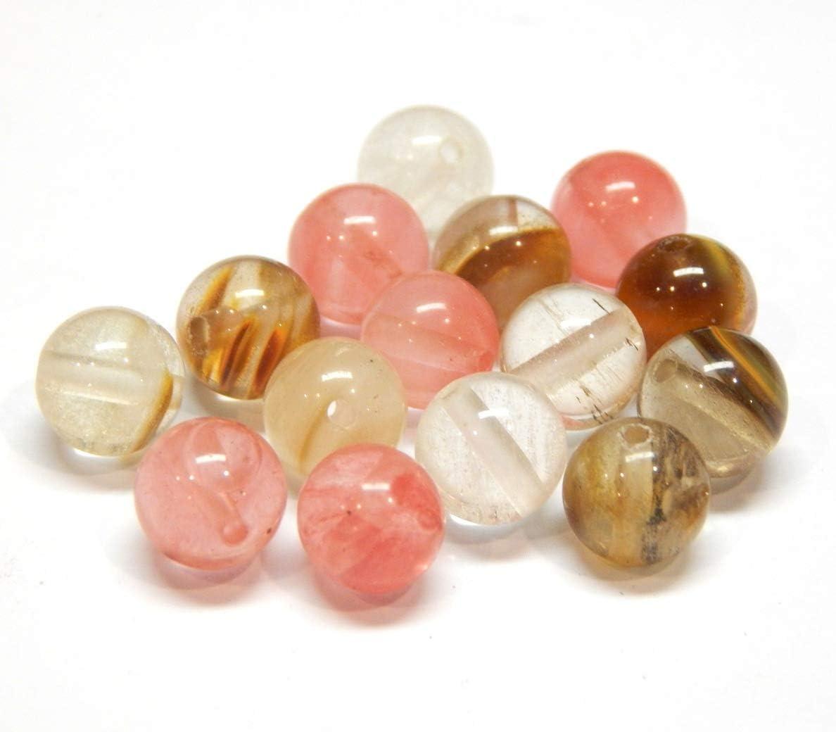 Tigerskin G520 - Perlas de cristal cerezo de cuarzo, piedras semipreciosas, redondas, 8 mm