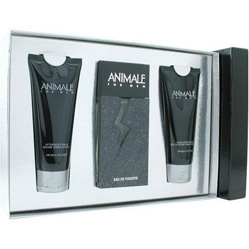 Animale By Animale Parfums For Men. Set-edt Spray 3.3 oz & Aftershave Balm 3.4 oz & Body Wash 3.4 oz by Animale Parfums