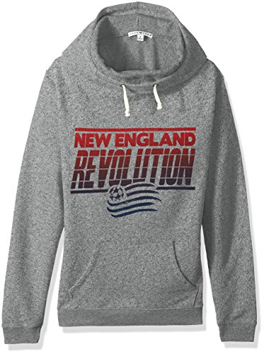 Junk Food MLS New England Revolution Women's Major League Soccer Cowl Pullover, Large, Heather
