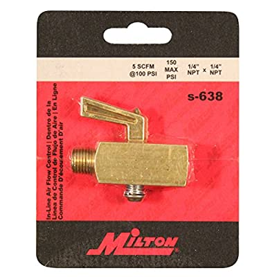 "Milton S-638 1/4"" NPT Flow Control Valve by Milton Industries"