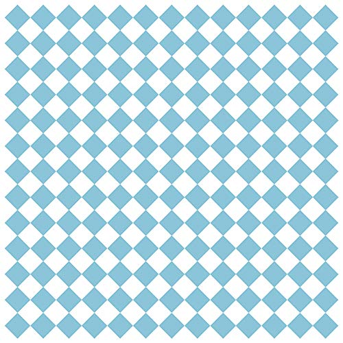 G.E.T. Enterprises P-BLC-1212-W Blue Checker 12 x 12 Grease-Resistant Food Paper, White (Pack of 1000)