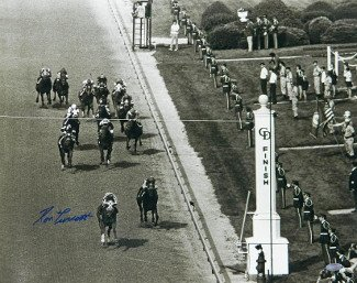 Athlon CTBL-015993 Secretariat Signed 1973 Kentucky Derby Horse Racing Photo Vintage B&W Finish Line - Steiner Hologram - 16 x 20