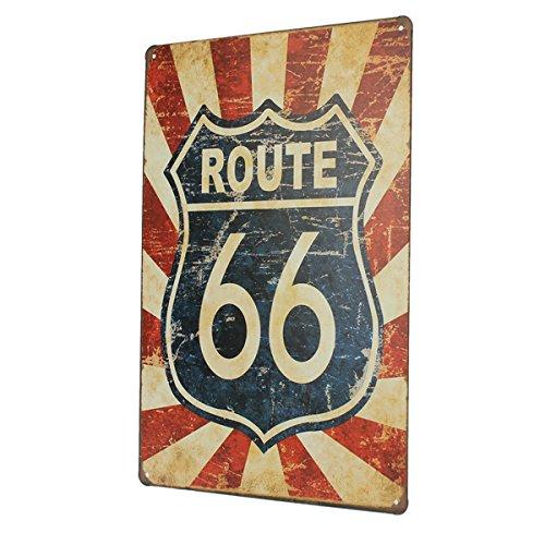Ruta 66 Cartel de chapa retro metal Placa Bar Pub decoración ...