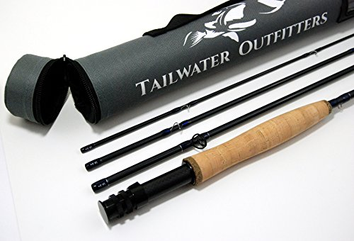 Tailwater Outfitters Toccoa Fly Rod: Fast Action 8'4', 4 piece IM8 Graphite With Rod Tube (3 weight)