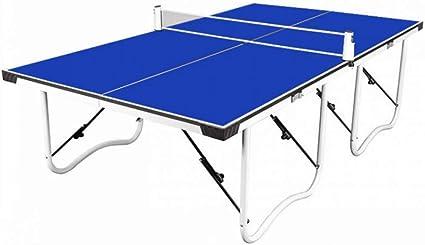 Mesa de Tenis de Mesa Plegable al Aire Libre/Interior, Mesa de Tenis de Mesa con Juego de Red, Juego de Mesa de Tenis de Montaje rápido para divertirse con Familiares y Amigos: