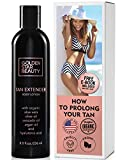 Tan Extender Daily Moisturizer - Best After Tanning Lotion w/Organic Oils and Hyaluronic Acid to Extend Your Tan from Sunless Tanner, Spray Tan, Sun or Tanning Bed 8.0 fl.oz.- Free eBook included