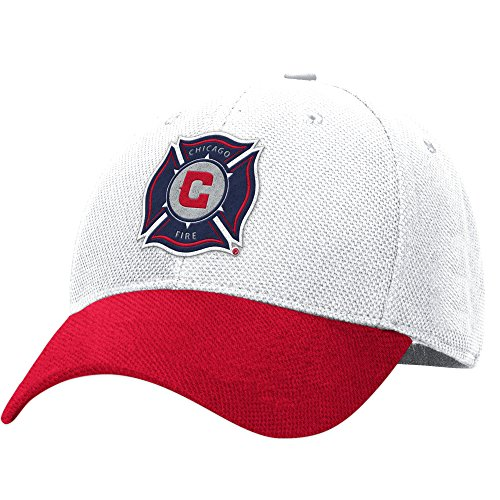 MLS M726Z Chicago Fire Men's Structured Flex Jersey Hook Hat, Large/X-Large, ()