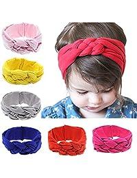 niceEshop(TM) Baby Girls Turban Knotted Headbands Newborn Headband (6Pcs)