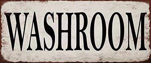 Yohoba Washroom Metal Signs Vintage Look Rustic Metal Signs