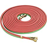 Twin Welding Torch Hose Oxygen Acetylene Oxy 25' 1/4'' for Cutting,Jikkolumlukka