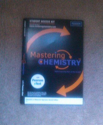 Mastering Chemistry for Chemistry: A Molecular Approach, 2nd Edition