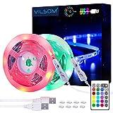 LED Strip Lights, ViLSOM 19.7ft USB LED Lights with Remote, RGB 5050 Color Changing Rope Lights for 40-100in TV Backlight, Bed Room, Party, DIY Home Decoration