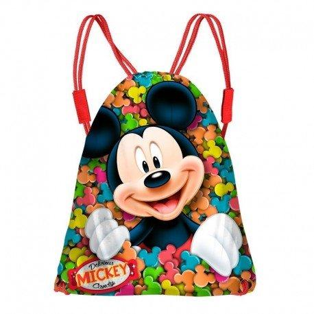Karactermania Mickey Mouse Delicious Bolsas con Cordón, 43 cm, Rojo 36205