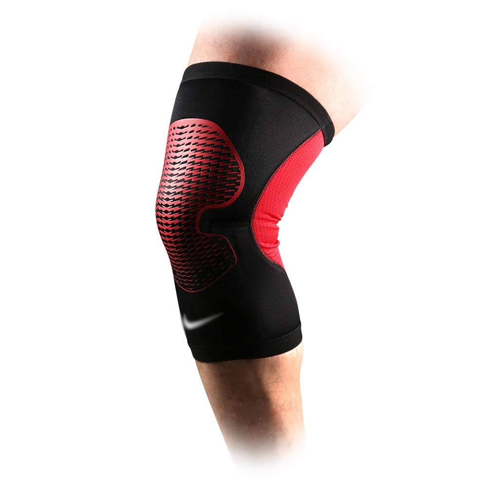 TY BEI Kneepad Sports Knee Pads Meniscus Outdoor Riding Knee Knee Pads - Three (Color : Red, Size : L)