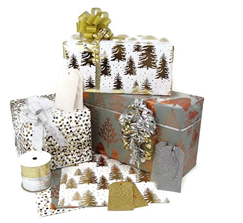 Coordinated Rolled Premium Gift Wrap, Ribbon, and Gift Tags...