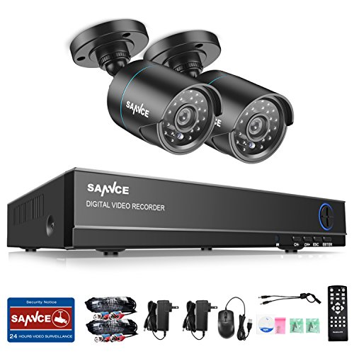 SANNCE 4CH HD 720P DVR Recorder Surveillance Video System an