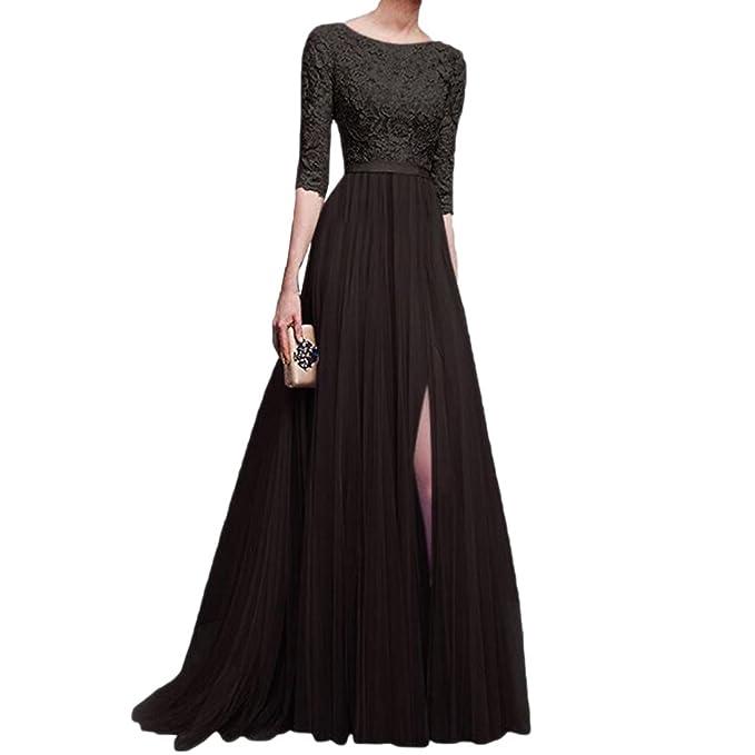 Chiffon Bridesmaid Maxi Wedding Dress Cap Sleeve Prom Evening Vintage Gown