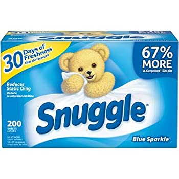 Snuggle, Blue Sparkle Fabric Softener Dryer Sheets with Fresh Release, 200 Pieces