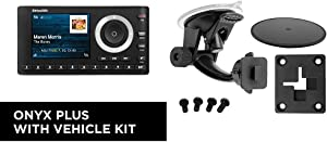 SiriusXM SXPL1V1 Onyx Plus Satellite Radio with Vehicle Kit & Windshield Dash Suction Car Mount for XM and Sirius Satellite Radios Single T and AMPS Pattern Compatible