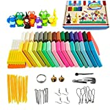 clay tool starter kit - Polymer Clay, Oven Bake Clay 36 Colors Modeling Clay Starter kit, Safe and Nontoxic Soft DIY with Tools and Accessorie
