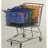 BIG BAGGY - Bolsas Reusables - Kit de 4 bolsas reusables en colores Naranja, Verde, Morado y Azul. Adaptadas para carritos de supermercados en Mexico (Walmart, Soriana, Aurrera, Ley, Calimax, HEB, Smart)