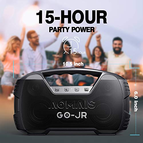 Portable Bluetooth Speaker, AOMAIS 40 Hrs Playtime Outdoor Waterproof Speakers with Lights, 25W Super Stereo Sound and… 6