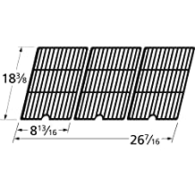 Music City Metals 65253 Matte Cast Iron Cooking Grid Replacement for Select Coleman and Cuisinart Gas Grill Models, Set of 3
