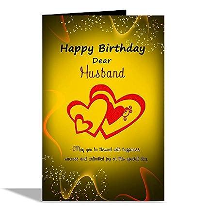 Alwaysgift Happy Birthday Dear Husband Greeting Card Amazon