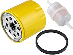 Harbot 52 050 02-S 25 050 34-S Oil Filter with 24 050 02-S Fuel Filter for Kohler CH11-CH25 CV11-CV22 M18-M20 MV16-MV20 K582 CV640 SV730 SV810 SV820 SV830 SV840 Engine