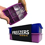 Perfect Size Silicone Ice Cube Tray, Set of 2,FREEZERS,No Odor or Aftertaste!