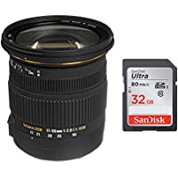 Sigma 17-50mm f/2.8 EX DC OS HSM Large Aperture Standard Zoom Lens Canon + 32GB