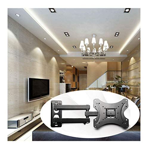 (Iusun TV Wall Mount Bracket for 17-37'' LED LCD Plasma TVs Full Motion Swivel Articulating Extension Studs Heavy Duty Steel Construction 66LBS Loading VESA 75x75mm to 100x100mm- Ship From USA (Black))