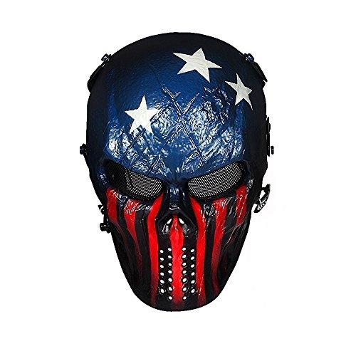 Stargoods Skeleton AirSoft Mask - Metal Mesh Paintball, BB Gun & CS...